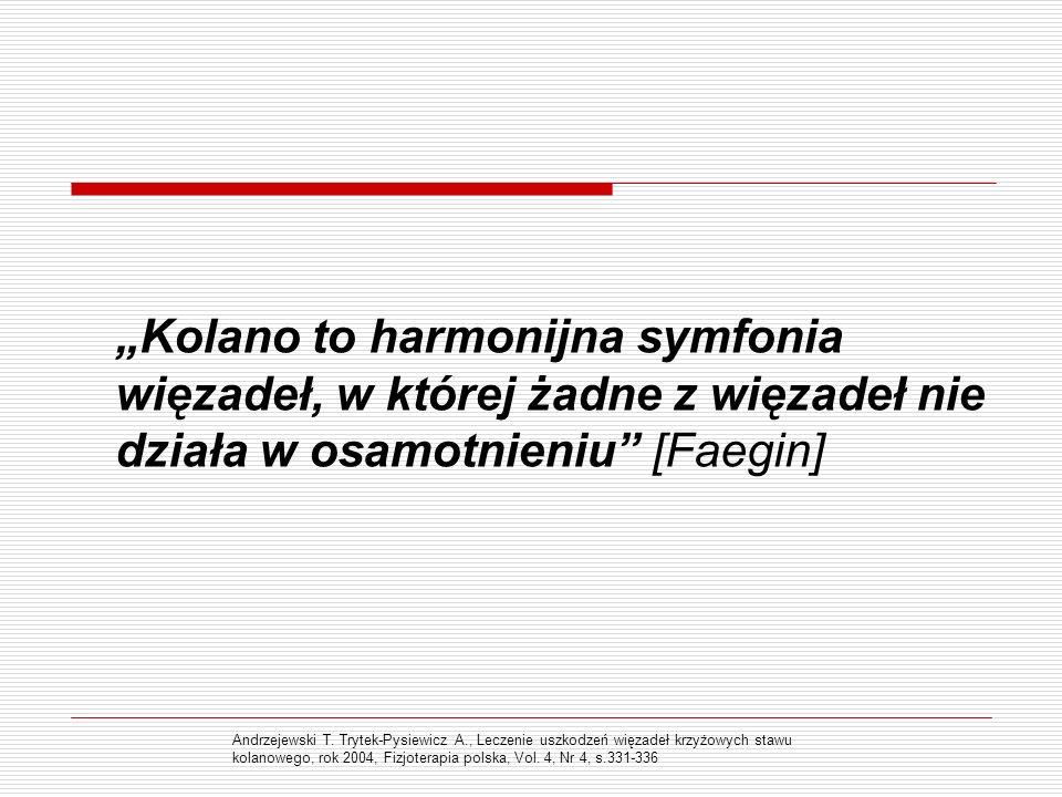 """""""Kolano to harmonijna symfonia więzadeł, w której żadne z więzadeł nie działa w osamotnieniu [Faegin]"""